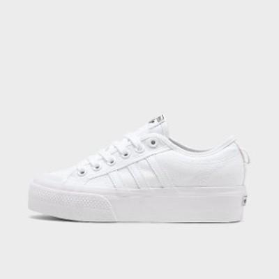 アディダス オリジナルス レディース adidas Originals Nizza Platform スニーカー White/White