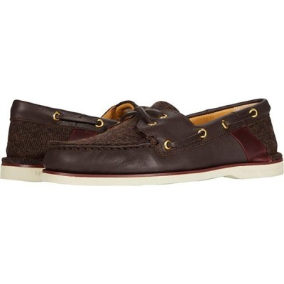 Sperry Gold Cup Au002FO Cross Lace Tweed メンズ ボートシューズ デッキシューズ Brown