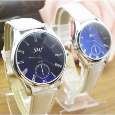 レディース アナログクォーツウォッチ 《ホワイトベルト》 腕時計 時計 カジュアル シンプル(定形外郵便、代引不可、送料別商品)
