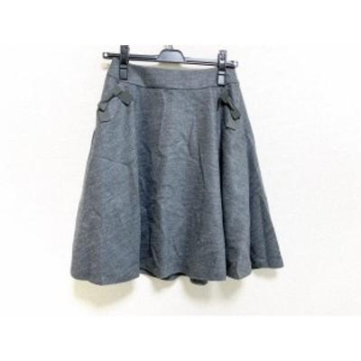 トゥービーシック TO BE CHIC スカート サイズ38 M レディース 美品 グレー リボン【中古】20201109