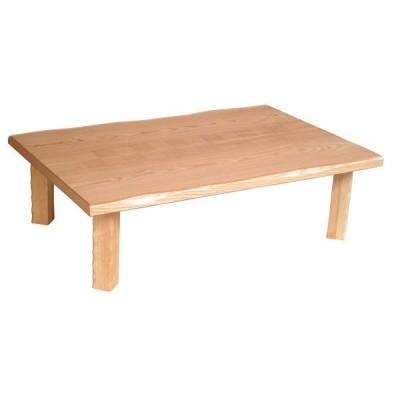 国産 テーブル 座卓 長方形 市松柄(線彫入り) 105cm幅 集落