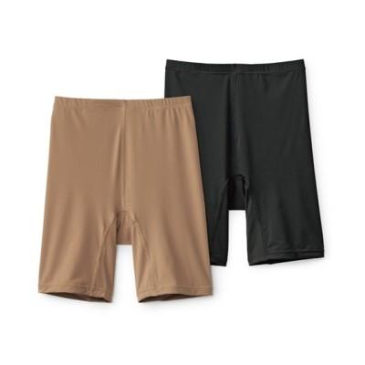 接触冷感。股ずれ防止ストレッチ深ばき3分丈ショーツ2枚組(L) 3分丈・ロング丈ショーツ, Panties