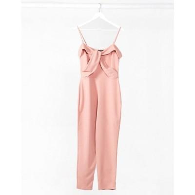 アイソウイットファースト I Saw It First レディース オールインワン ジャンプスーツ ワンピース・ドレス Diamante Strap Skinny Leg Jumpsuit ピンク