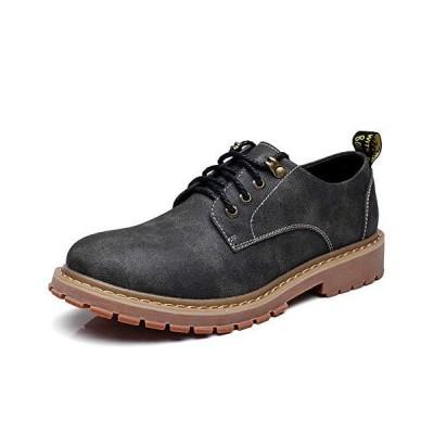 [NIUBAN] 革靴 メンズ レースアップシューズ 本革 ローカット カジュアルシューズ ワークブーツ スニーカー 通勤