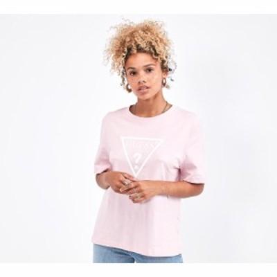 ゲス Guess レディース Tシャツ トップス short sleeve boxy t-shirt Pink