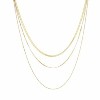 Hzacye Herringbone Choker Necklaces for Women,14K Gold Plated Layered Necklace,Minimalist 3mm Gold Chain Necklace for Women and