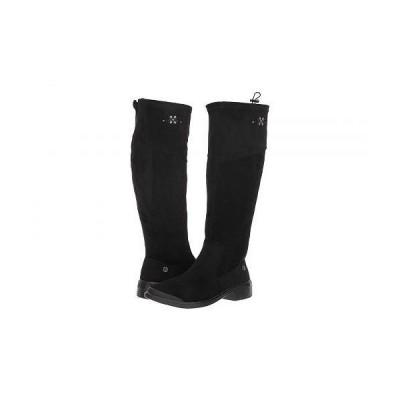 Bzees レディース 女性用 シューズ 靴 ブーツ ロングブーツ Boomerang - Black Microfiber