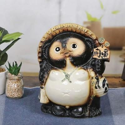 信楽焼 たぬき  9号開運タヌキ 陶器タヌキ たぬき置物  狸 信楽 たぬき陶器 名入れ 文字入れ  ta-0113