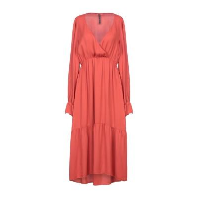 マニラ グレース MANILA GRACE 7分丈ワンピース・ドレス 赤茶色 40 レーヨン 100% 7分丈ワンピース・ドレス