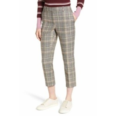 Nordstrom ノードストローム ファッション パンツ Nordstrom Signature NEW Brown Womens Size 18X27 Plaid Dress Pants Wool