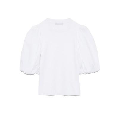 【セルフォード】 異素材ボリュームスリーブニット レディース ホワイト 38 CELFORD