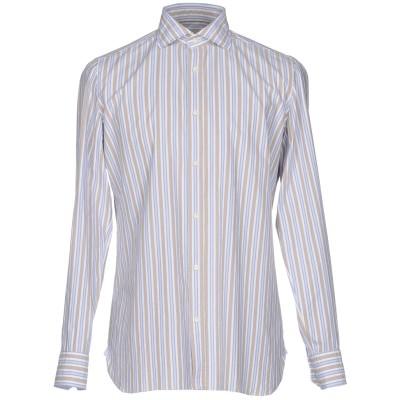 GIAMPAOLO シャツ ベージュ 40 100% コットン シャツ