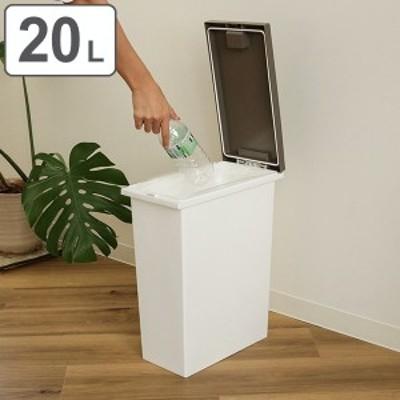 ゴミ箱 20L 消臭 抗菌 防臭 パッキン プッシュ ふた付き スリム ( 20 リットル 20l キッチン おむつ 生ゴミ コンパクト ダストボックス