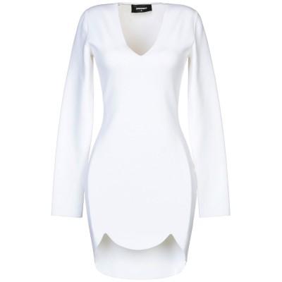 ディースクエアード DSQUARED2 ミニワンピース&ドレス ホワイト L レーヨン 75% / ナイロン 25% ミニワンピース&ドレス