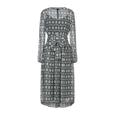 OPALINE 7分丈ワンピース・ドレス グリーン M ポリエステル 100% 7分丈ワンピース・ドレス
