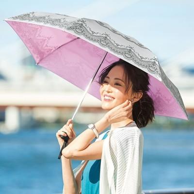 ベルーナ 晴雨兼用コンパクトセレブな遮熱日傘 1 1 レディース