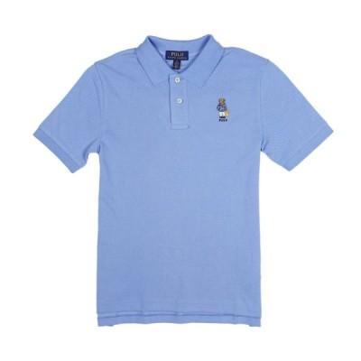 ポロ ラルフローレン POLO RALPH LAUREN ボーイズ BOYS 半袖 ポロシャツ ポロベア Beach Bear Cotton Mesh Polo ブルー Fall Blue