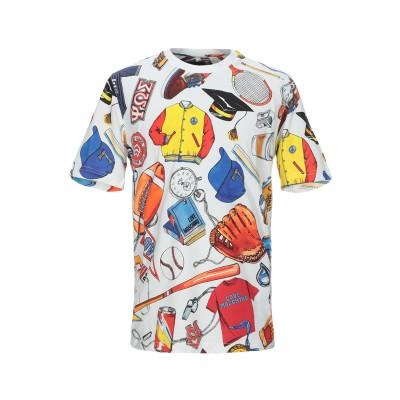 ラブ モスキーノ LOVE MOSCHINO T シャツ ホワイト L コットン 100% T シャツ
