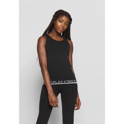 オンリープレイ レディース カットソー トップス ONPPERFORMANCE CIRCULAR - Sports shirt - black black