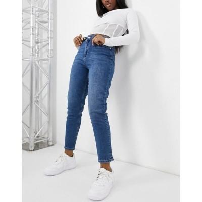 エヌ エー ケイ ディ レディース デニムパンツ ボトムス NA-KD organic cotton mom jeans in mid blue Mid blue