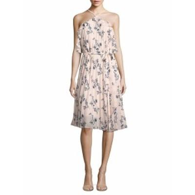 ショーシャンナ レディース ワンピース Pleated Floral-Print Halter Dress