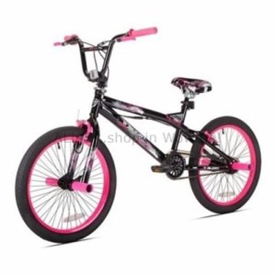 BMX BMXバイク女の子自転車20インチスチールケントトラブルブラックピンクスチールフレームティーン  BMX Bike Gir