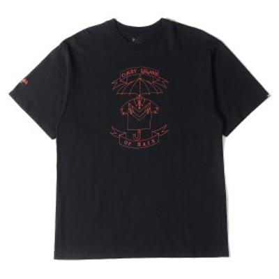 NEIGHBORHOOD ネイバーフッド Tシャツ アンブレラ グラフィック クルーネック Tシャツ ブラック 3 【メンズ】【中古】【K2695】