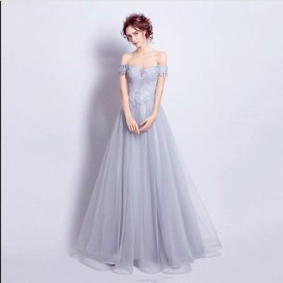 結婚式 花嫁 二次会 パーティードレス  プリンセスライン ウエディングドレス ブライダル ワンピース 大きいサイズ 冠婚 ロング丈 綺麗 きれいめ レースアップ