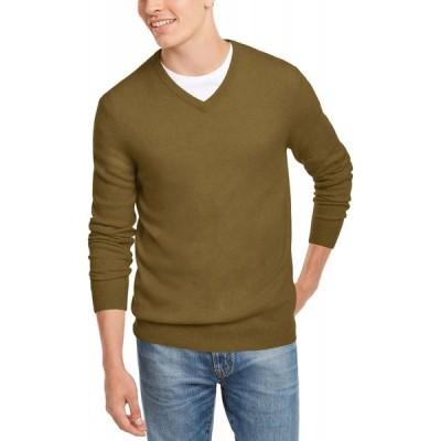 クラブルーム Club Room メンズ ニット・セーター Vネック トップス V-Neck Cashmere Sweater Vintage Khaki