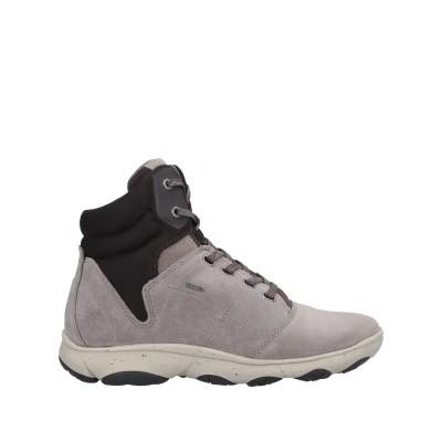 ジェオックス GEOX ショートブーツ グレー 39 革 / 紡績繊維 ショートブーツ