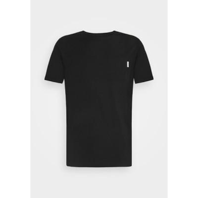 スコッチアンドソーダ Tシャツ メンズ トップス POCKET TEE - Basic T-shirt - black