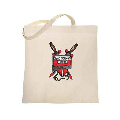 Sad Songs Mixtape Retro Tattoo Natural 15x15 inches Large Canvas Tote Bag W