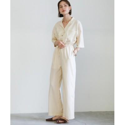 select MOCA / 2021 SS リネンタッチジャンプスーツ WOMEN オールインワン・サロペット > つなぎ/オールインワン