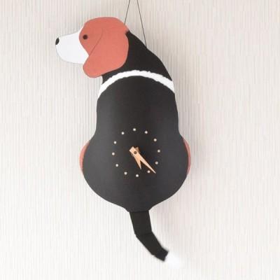 たち吉 藤井啓太郎 犬時計 ビーグル 1700860016 掛け時計 壁掛け時計 しっぽをふる 犬型 いぬ かわいい 贈り物 ギフト プレゼント