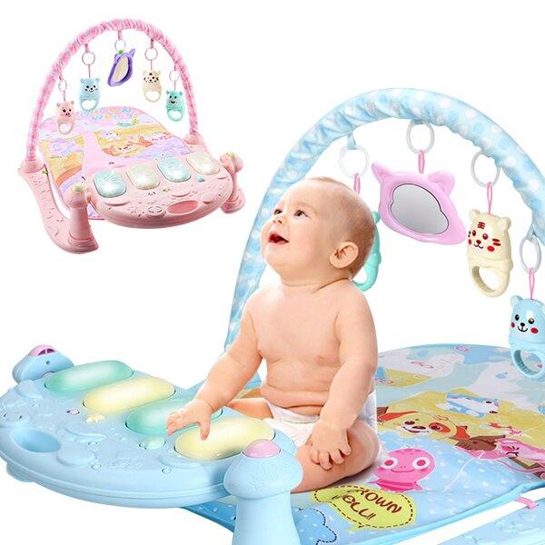 【滿額領卷折50】嬰兒早教健身架踢踢琴 聲光音樂腳踏鋼琴遊戲毯 JoyBaby