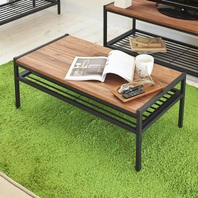 テーブル 木製 スチール リビングテーブル 木製 アイアン*ウッド センターテーブル