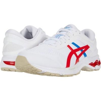 アシックス ASICS メンズ ランニング・ウォーキング シューズ・靴 GEL-Kayano 26 White/Classic Red