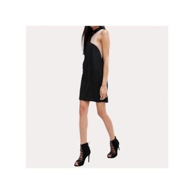 チョーカー シンプル パーティードレス スカート ミニ丈 レディース ワンピース お呼ばれドレス kh-0678