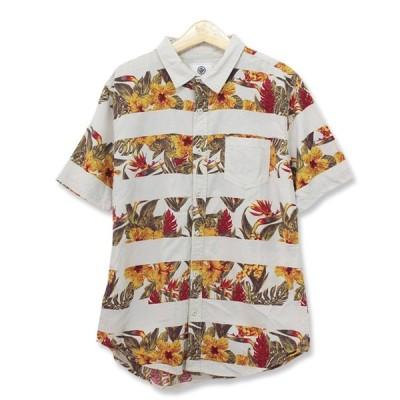 ON THE BYAS アロハシャツ レギュラーカラー アイボリー Lサイズ s180620-9