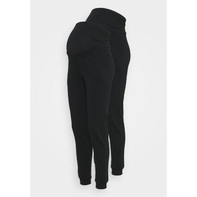 アンナ フィールド ママ カジュアルパンツ レディース ボトムス 2 PACK - REGULAR FIT JOGGERS - OVERBUMP - Tracksuit bottoms - black/black