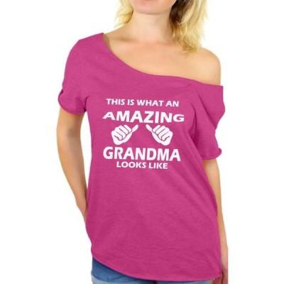 レディース 衣類 トップス Awkward Styles Women's This Is What An Amazing Grandma Looks Like Graphic Off Shoulder Tops T-shirt Tシャツ