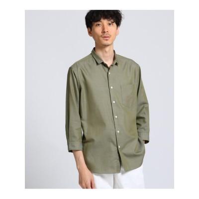 ミニウイングカラー 七分袖 シャツ