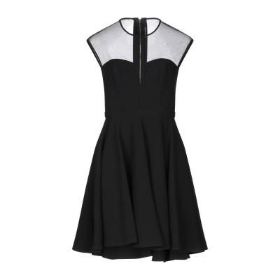 MANGANO ミニワンピース&ドレス ブラック 44 ポリエステル 63% / レーヨン 32% / ポリウレタン 5% ミニワンピース&ドレス