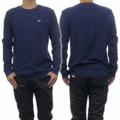 【セール 40%OFF!】TOMMY JEANS トミージーンズ メンズクルーネックロングTシャツ DM0DM08451 ネイビー