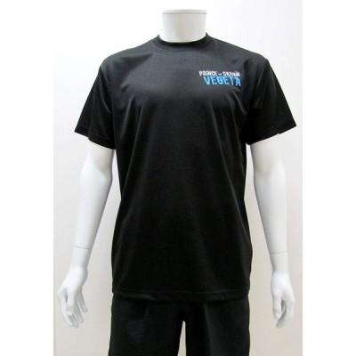 DORAGON BALL SUPER ドラゴンボール ベジータ スポーツTシャツ X513-602 ブラック(黒)・C40 男女兼用 Lサイズ (1089364)