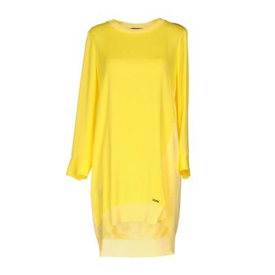 ディースクエアード DSQUARED2 ミニワンピース&ドレス イエロー 38 シルク 100% / レーヨン ミニワンピース&ドレス