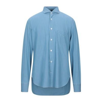 ダノリス DANOLIS デニムシャツ ブルー 42 コットン 100% デニムシャツ