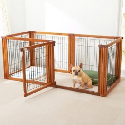 リッチェル 木製ドア付サークル トレー 犬用ケージ・サークル