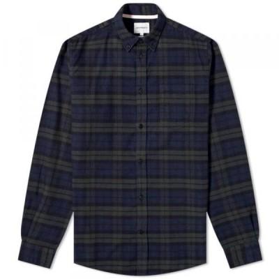 ノース・プロジェクツ シャツ ジャケット メンズNorse Projects Anton Brushed Check Flannel ShirtBlack Watch Check