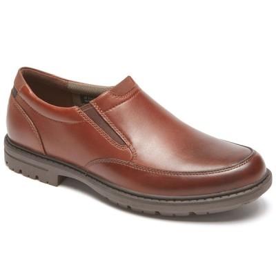セール ロックポート 靴 メンズ CG8388 タフバックス プレーントゥ スリッポン ダークタン